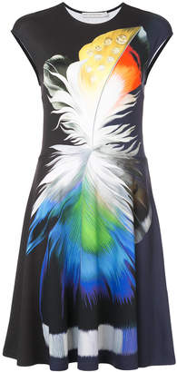 Mary Katrantzou feather print midi dress