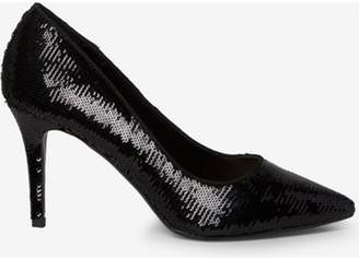 Dorothy Perkins Womens Black 'Ezzy' Sequin Court Shoes