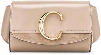 Chloé C Belt Bag in Motty Grey | FWRD
