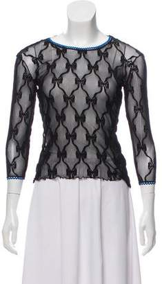 Dolce & Gabbana Lace Crew Neck Top