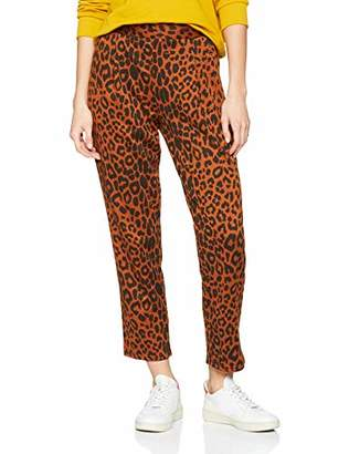 New Look Women's Louisa Animal Pull On Trousers,(Manufacturer Size:10)