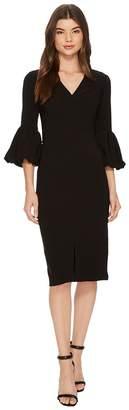 Maggy London V-Neck Balloon Sleeve Sheath Women's Dress