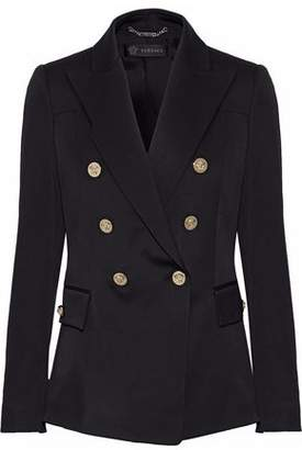 Versace Double-Breasted Wool-Blend Blazer