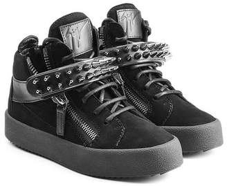 Giuseppe Zanotti Suede Sneakers with Stud Embellishment