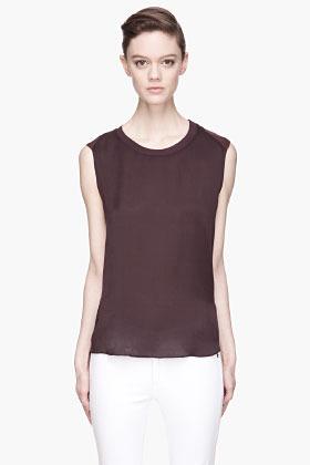 Theyskens' Theory Plum purple Bana shirt