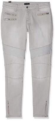 Seven7 Women's Biker Skinny Jeans, Grey (Dsl Gry 005), (Size: 32/28)