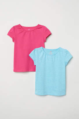 H&M 2-pack Jersey Tops - Turquoise