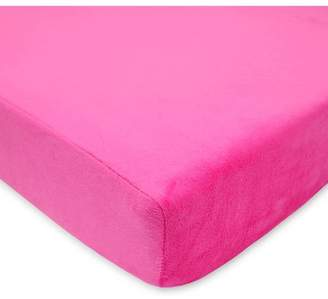 American Baby Company Heavenly Soft Chenille Fitted Crib Sheet for Standard Crib and Toddler Mattresses, Girl or Boy, Fuchsia