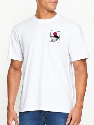 Edwin Sunset On Mount Fuji Logo T-shirt - White