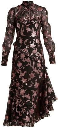Faylin floral fil-coupe dress Erdem RJfEGHxTu