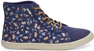 Deep Cobalt Vintage Flower Women's Camarillo Sneakers