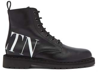 Valentino VLTN lace-up leather ankle boots
