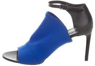 Balenciaga Peep-Toe Ankle Strap Pumps