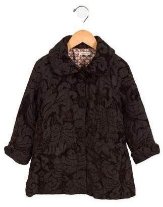 Kenzo Girls' Floral Patterned Coat