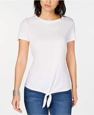 INC International Concepts I.N.C. Tie-Front T-Shirt, Created for Macy's