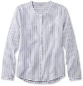 L.L. Bean L.L.Bean Cotton Crinkle Shirt, Stripe