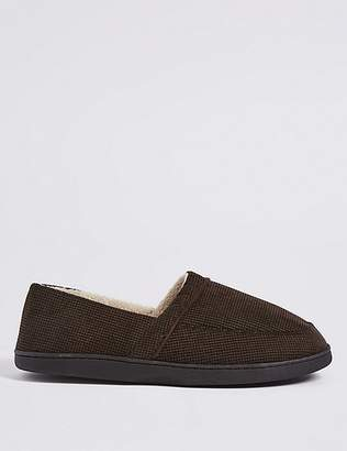 "Marks and Spencer Waffle Slip-on Slippers with Thinsulateâ""¢"