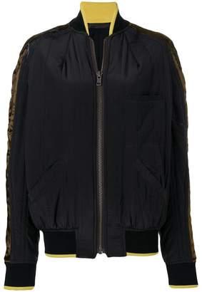 Haider Ackermann side stripe bomber jacket
