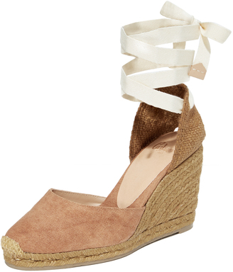 Castaner Carina Washed Canvas Wedge $140 thestylecure.com