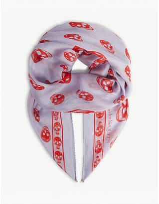 Alexander McQueen Classic skull print silk scarf