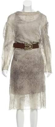 Marni Silk-Wool Midi Dress