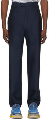 Balenciaga Blue Double Belt Trousers