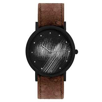 South Lane Swiss Quartz Stainless Steel and Leather Casual Watch