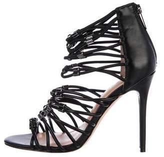 Halston Leather Multistrap Sandals