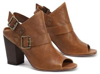 Trask Miriam Stacked Heel Leather Sandal