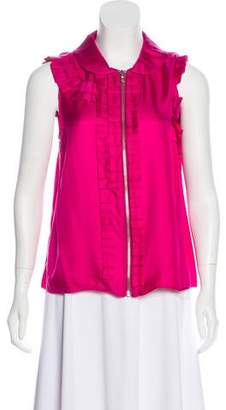 Marc by Marc Jacobs Ruffled Silk Top