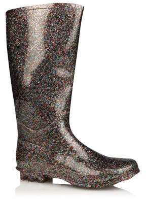 George Multicolour Glitter Wellington Boots