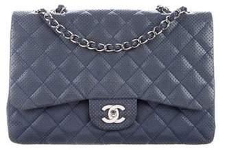 Chanel Perforated Jumbo Single Flap Bag