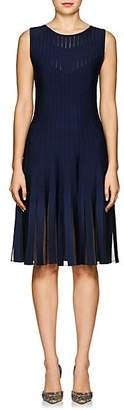 Zac Posen Women's Compact Knit Fit & Flare Dress - Navy