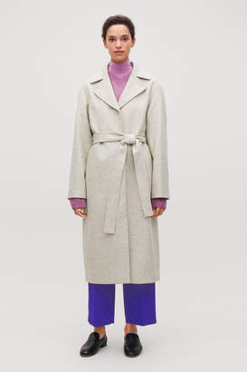 Cos SPECKLED WOOL TRENCH COAT