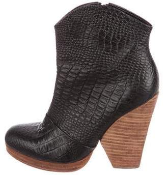 Rachel Comey Embossed Leather Booties
