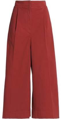 Brunello Cucinelli Cotton-Twill Wide-Leg Pants