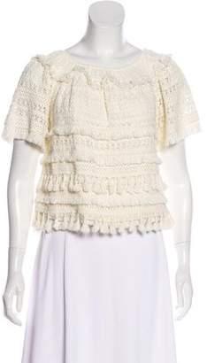 Love Sam Tasseled Crocheted Top