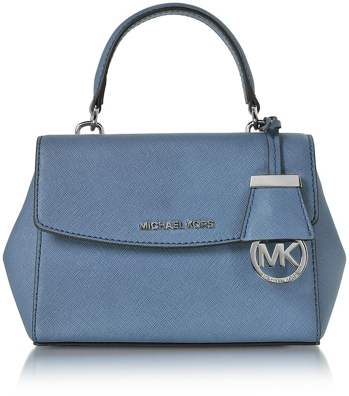 MICHAEL Michael KorsMichael Kors Ava XS Denim Saffiano Leather Crossbody Bag