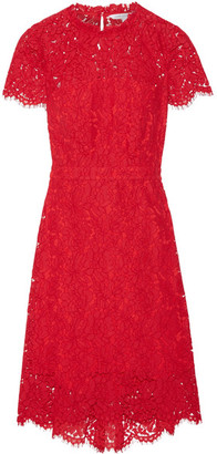 Diane von Furstenberg - Alma Cutout Corded Lace Dress - Red $470 thestylecure.com