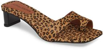 Jeffrey Campbell Teclado Genuine Calf Hair Slide Sandal