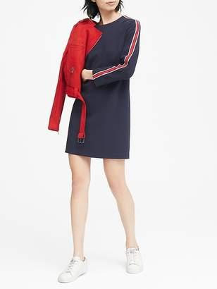 Banana Republic Petite Side-Stripe Shift Dress