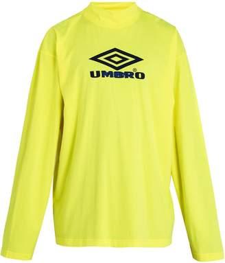 Vetements X Umbro long-sleeved cotton-jersey T-shirt