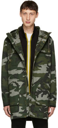 Tiger of Sweden Green Camouflage Emmanuel Coat