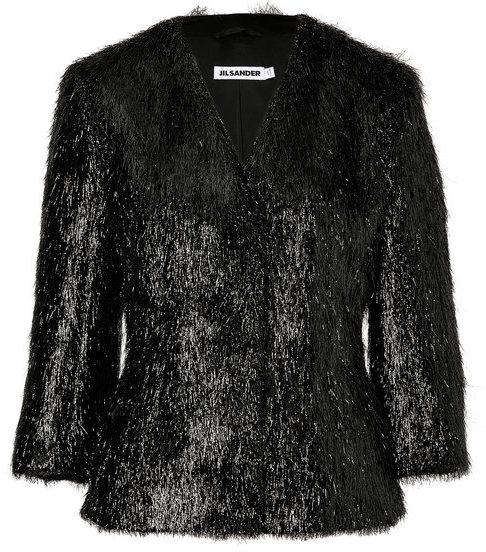Jil Sander Black 3/4 Sleeve Jacket