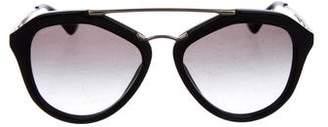 Prada Gradient Aviator Sunglasses