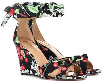 Aquazzura Cherry Blossom wedge sandals