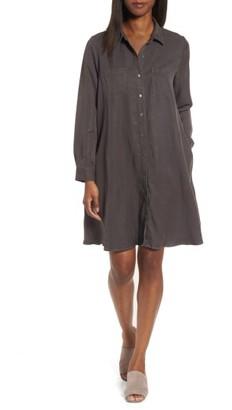 Women's Eileen Fisher Classic Collar A-Line Shirtdress $238 thestylecure.com