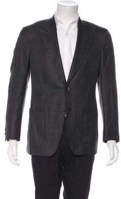 Tom Ford Wool & Silk-Blend Two-Button Blazer