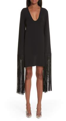 Stella McCartney Fringe Cuff Shift Dress