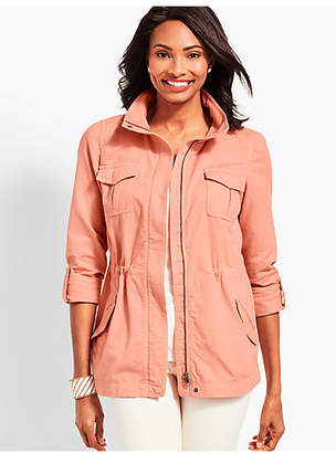 Talbots Casual Cotton Safari Jacket